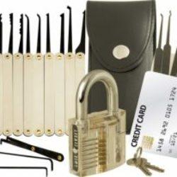 Lock Cowboy Lockpicking Set (mit Dietrich Kit im Kreditkartenformat)