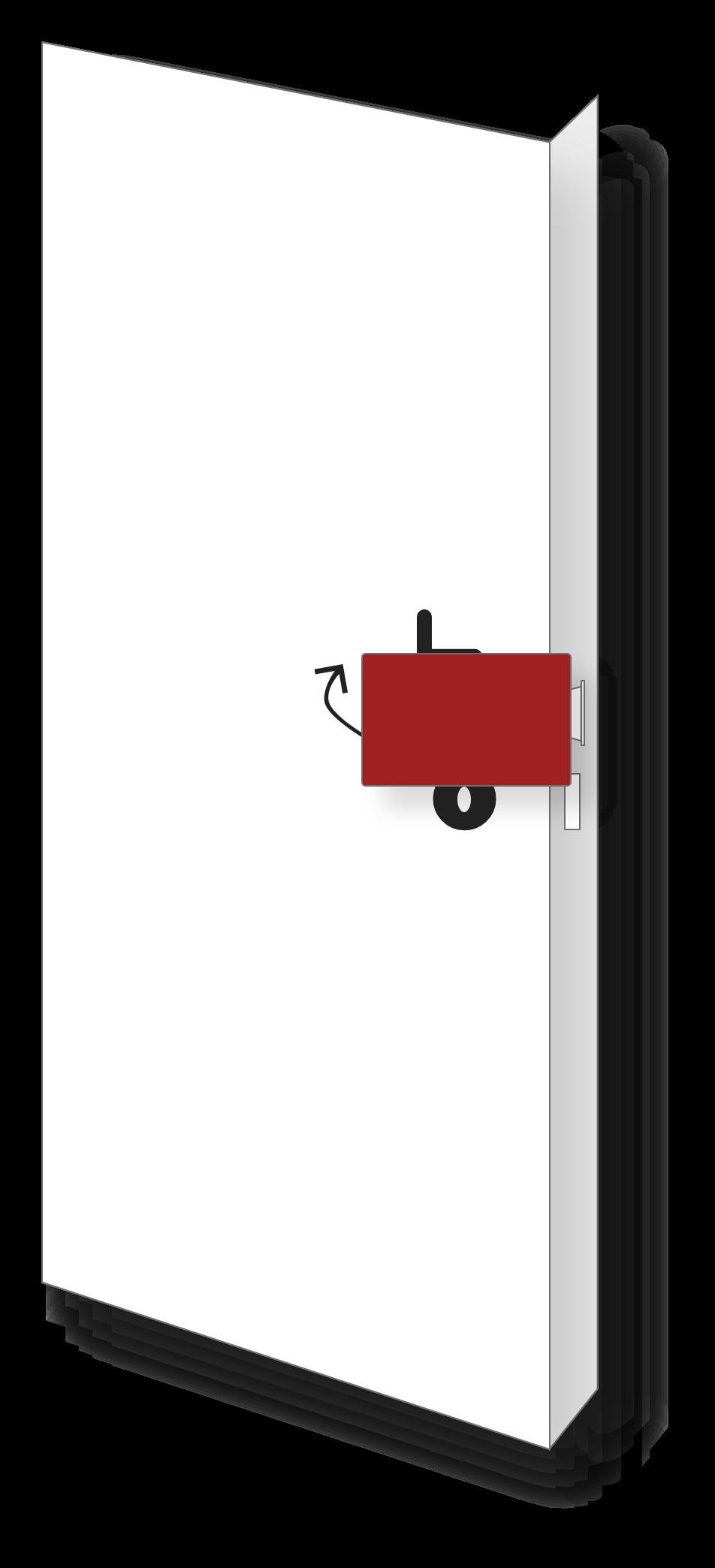 Tür mit Karte öffnen